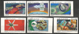 Vietnam 1978 Used Stamps  Mi  990-95 U  Imperf.  Space - Viêt-Nam