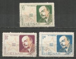 Vietnam 1980 Used Stamps  Mi  1090-92 Lenin - Viêt-Nam