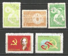 Vietnam 1982 Year , Used Stamps, Mi 1197-9 , 1202-03 - Viêt-Nam