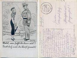 AK Soldaten Humor, Künstler AK Barlog, Feldpost Wandern Sulecin Neumark, 2. WK,, - War 1939-45