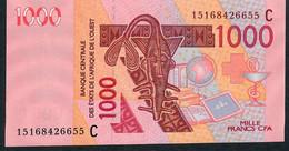 W.A.S. C=BURKINA FASO P315Cd 1000 FRANCS (20)15  2015  UNC. - Westafrikanischer Staaten