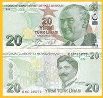 Turkey 20 Lira P-224 2009 (2019) New Signature UNC Banknote - Turchia