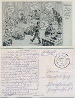 AK Soldaten Humor, Künstler AK Barlog, Feldpost Wandern Sulecin Neumark, 2. WK. - War 1939-45