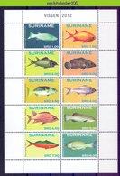 Nch1901b FAUNA VISSEN FISH FISCHE POISSONS MARINE LIFE SURINAME 2012 PF/MNH - Fishes