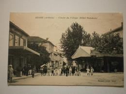 07 Ruoms, Centre Du Village, Hotel Théodore. Carte Inédite (A1p34) - Ruoms