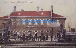 Baile CALIMANESTI Arges 1910, GARA Jiblea, BAHNHOF, Train, Timbru Carol - Roemenië