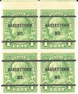 USA Pre Cancel - Hagerstown MD - Woodcutter Lumber - Timber - Stamps