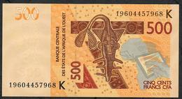 W.A.S. SENEGAL P719Kh 500 FRANCS (20)19 2019 UNC. - West-Afrikaanse Staten