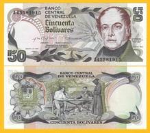 Venezuela 50 Bolivares P-58 1981 UNC Banknote - Venezuela