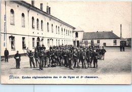 BELGIQUE - MENIN --  Ecole Régimentaire Des 4e De Ligne Et 3e Chasseurs - Menen