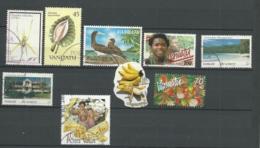VANUATU 9 RECENT USED  STAMPS - Vanuatu (1980-...)