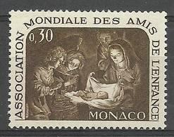 Monaco 1966 Mi 823 MNH ( ZE1 MNC823 ) - Madonnen
