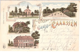 Gruss Aus CAARSSEN Kaarßen Amt Neuhaus Color Litho Gasthaus Rudolf Krüger Pfarrhaus Gelaufen 21.12.1898 TRIPKAU - Lüneburg