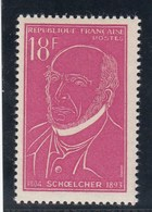 France - 1957 - N° YT 1092** - Victor Schoelcher - Unused Stamps