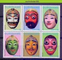 Nfm1933 AZIATISCHE MASKERS ASIAN MASKS SURINAME 2012 PF/MNH - Culture