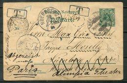 C015 - DEUTSCHES REICH - Ganzsache P 31 Von Berlin Nach Nürnberg + Weiter Nach Paris, Tax-Vermerke - Germany