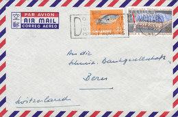 Singapore Air Mail Slogan Flamme SINGAPORE 1967 Cover Brief Schweiz. Bankgesellschaft BERN Fish Fisch Flaggenparade - Singapur (1959-...)