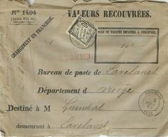 LETTRE TAXE  1893  10c Noir Valeurs Recouvrées D'espéraza à Lavelanet  Avec Traite Et Bordereau  6scans - 1859-1955 Storia Postale