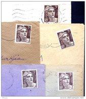 Ar3016 5 Lettres Marianne Gandon 3f YvT 715 Seul Sur Lettre - Marcophilie (Lettres)