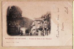 X65284 Pionnière TORNE - BAGNERES De BIGORRE 1890s Avenue De SALUT Et Des THERMES à DUTEIL Rue Ségalier Bordeaux - Bagneres De Bigorre