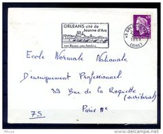 Ar3287 LOIRET SECAP Orléans Cité De Jeanne D'Arc.../ Lettre 45 Orléans Gare 12-09-1968 - Marcofilie (Brieven)