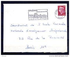 Ar3288 LOIRET SECAP Orléans Cité De Jeanne D'Arc.../ Lettre 45 Orléans Gare 29-09-1969 - Marcofilie (Brieven)