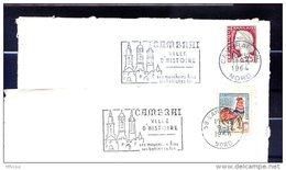 Ar3345 NORD Secap  Cambrai Ville D'histoire O= Et =o/ 2 L Cambrai PPal - Marcofilia (sobres)
