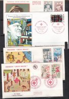 Ar3747 FdC CRoix Rouge 1965 197419751981 :/ 4 Enveloppe Illustrée - Marcofilia (sobres)