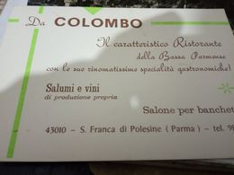 SANTA FRANCA POLESINE PARMENSE RISTORANTE DA COLOMBO Biglietto 1965/75 HH2172 - Parma