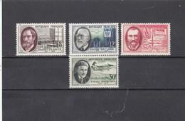 France - 1957 - N° YT 1095/98** - Savants Et Inventeurs - Francia