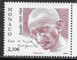 MONACO, 2019, MNH, GANDHI, 1v - Mahatma Gandhi