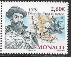 MONACO, 2019, MNH, EXPLORERS, MAGELLAN, SHIPS, CIRCUMNAVIGATION OF THE WORLD,1v - Explorateurs