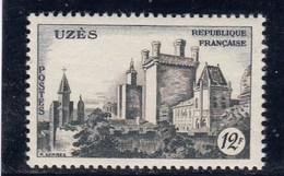 France - 1957 - N° YT 1099** - Château D'Uzès - Unused Stamps