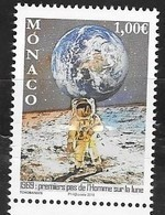 MONACO , 2019, MNH, SPACE, MOON LANDING,1v - Europe