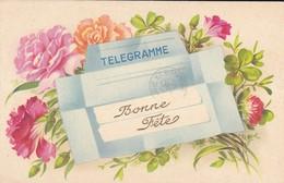 FANTAISIE----BONNE FETE--télégramme--fleurs-- Voir 2 Scans - Fêtes - Voeux