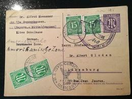 Luxembourg Carte Gunzenhausen Censure 1946 - Luxemburg