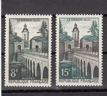 France - 1957 - N° YT 1105/06** - Le Quesnoy - Unused Stamps