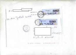 Lettre Cachet Montgiron A Paris Sur Vignette Dd - 2000 «Avions En Papier»