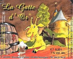 ÉTIQUETTE DE BIÈRE BELGE - Brasserie Saint-Monon - Cerveza