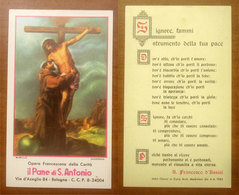 S. Francesco Assissi  Il Pane Di S. Antonio SANTINO - Devotieprenten