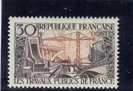 France - 1957 - N° YT 1114** - Travaux Publics - Francia