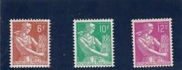 France - 1957 - N° YT 1115/16** - Type Moissonneuse - Francia
