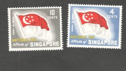 SINGAPORE1960:  Michel49-50 First Anniversary Of Republic Mnh** - Singapur (1959-...)