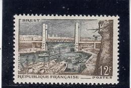 France - 1957 - N° YT 1117** - Port De Brest - Unused Stamps
