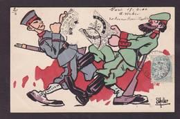 CPA Muller Satirique Caricature Guerre Russo Japonaise Timbres Poste Russie Japon Circulé - Russie