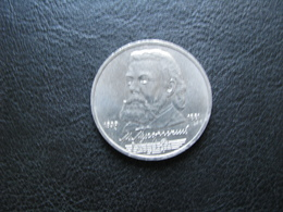 USSR Soviet Russia Mikhail Musorgskiy 1 Ruble 1989 - Russland