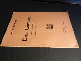 9) MOZART DON GIOVANNI LIBRETTO D'OPERA EDIZIONE BARION 1932 - Opéra