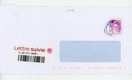 FRANCE - AUTOADHESIF MARIANNE DE CIAPPA (TVP 20g LETTRE SUIVIE) -  N° Yvert  1177A SUR LETTRE Obli.  DE MONTAUBAN 2019 - KlebeBriefmarken