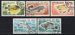 MALI - 1975 - SERIE PESCI - FISHES - USATI - Mali (1959-...)