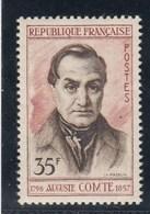 France - 1957 - N° YT 1121** - Auguste Comte - Unused Stamps